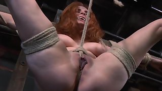 Redhead mature Ashlee Graham scheduled up and tortured by a pervert