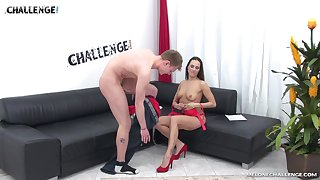 Lucky guy gets to experience what it's like when Mea Melone rides a cock
