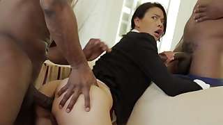 Thai Ma more a taut physique demolished in an multiracial MMF