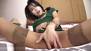 Bad tourist with big cock used a horny shemale Asian