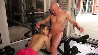 Age-old with an increment of young amateur sexual congress in a sensual XXX scene