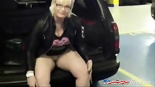 Real exhibitionist mom