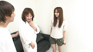 Kinky and nasty Japanese likes to play on all sides of lesbian sex games