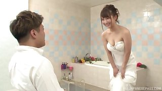 Japanese spoil is about beside win married, but she wants the best man's dick